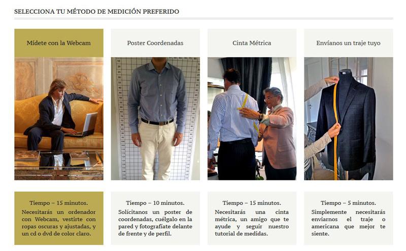 Exquisuits ofrece diferentes métodos para la toma de medidas de tus trajes a medida