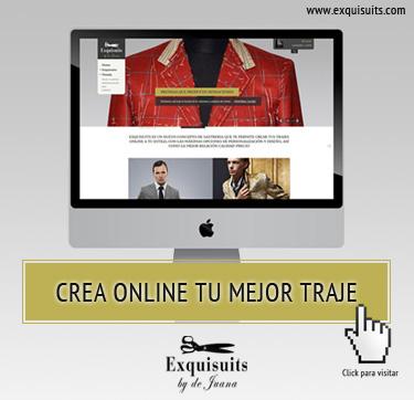 Crea tu traje a medida online en Exquisuits