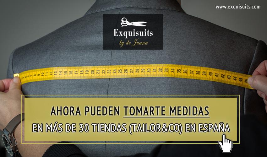 Toma medidas para tu traje online en la Red Tailor&Co con más de 30 tiendas en España