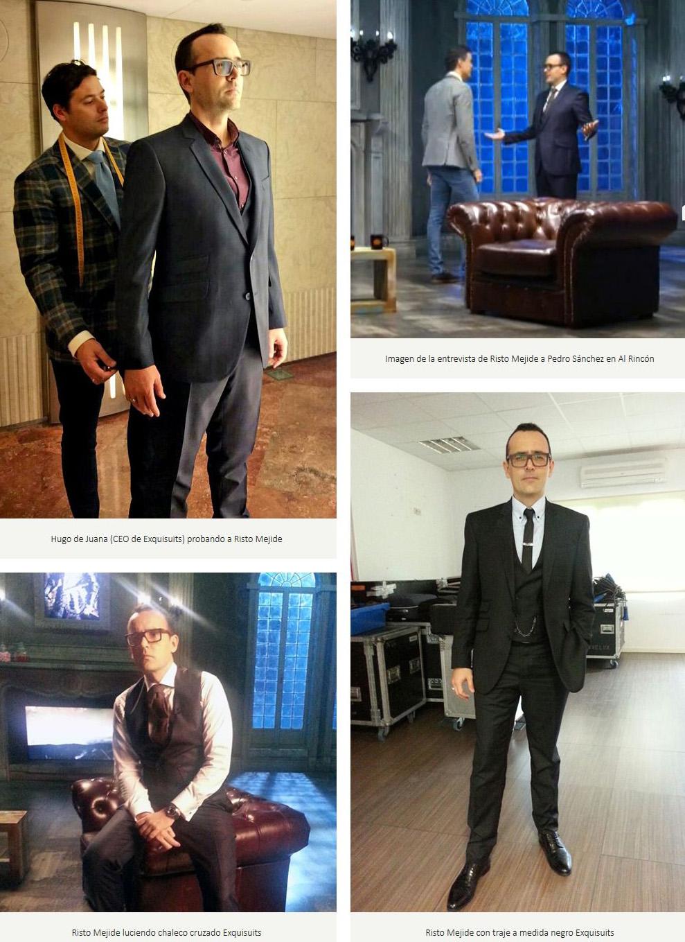 Risto mejide confía en Trajes a Medida Exquisuits para sus entrevistas en Al Rincón