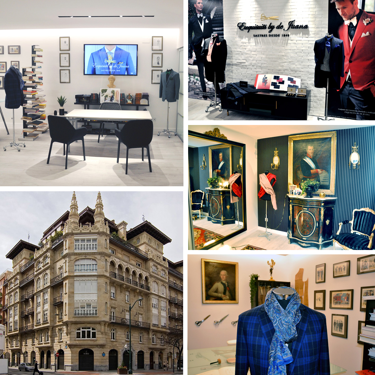 Imágenes de la nueva sastrería Javier de Juana & Exquisuits by de Juana en Gran Vía, 45 (Edificio Sota). Piso 1 de Bilbao
